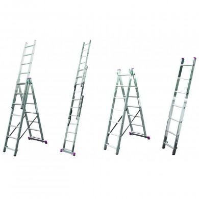 Алуминиева трираменна стълба под наем Krause Corda 3x11